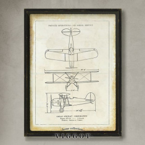Blueprint Avión