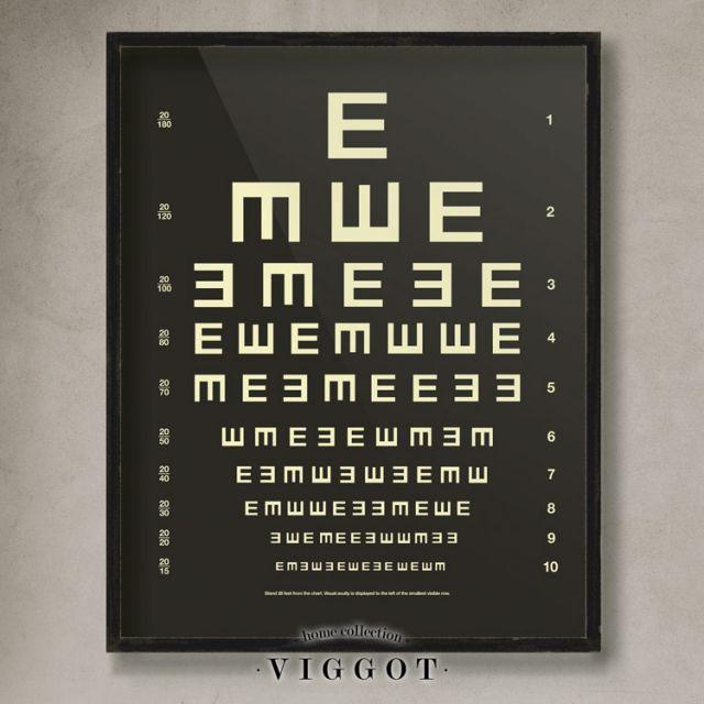 eyechart E negro