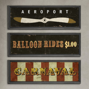 Cartel  Aeroport 70×20