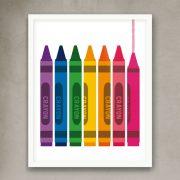 Cuadro kids crayones