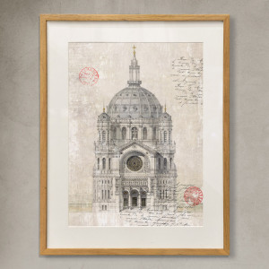 cuadro catedral wall art church