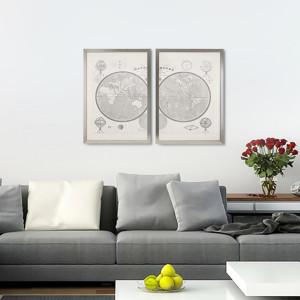 Mappe Monde Díptico 35×50