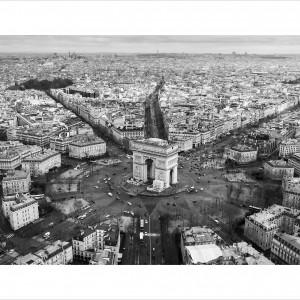 Cuadro Paris City B&N