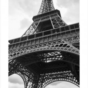 Cuadro Torre Eiffel Vertical B&N