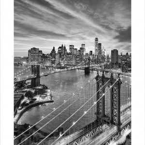 Cuadro New York Bridge Vert B&N