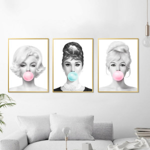Marilyn, Audrey, Brigitte Chicle