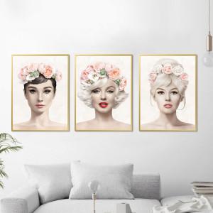 Marilyn, Audrey, Brigitte Flores