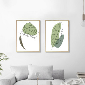 Cuadros Monstera Lineal