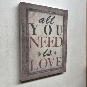 Bastidor con tela sublimada All you need